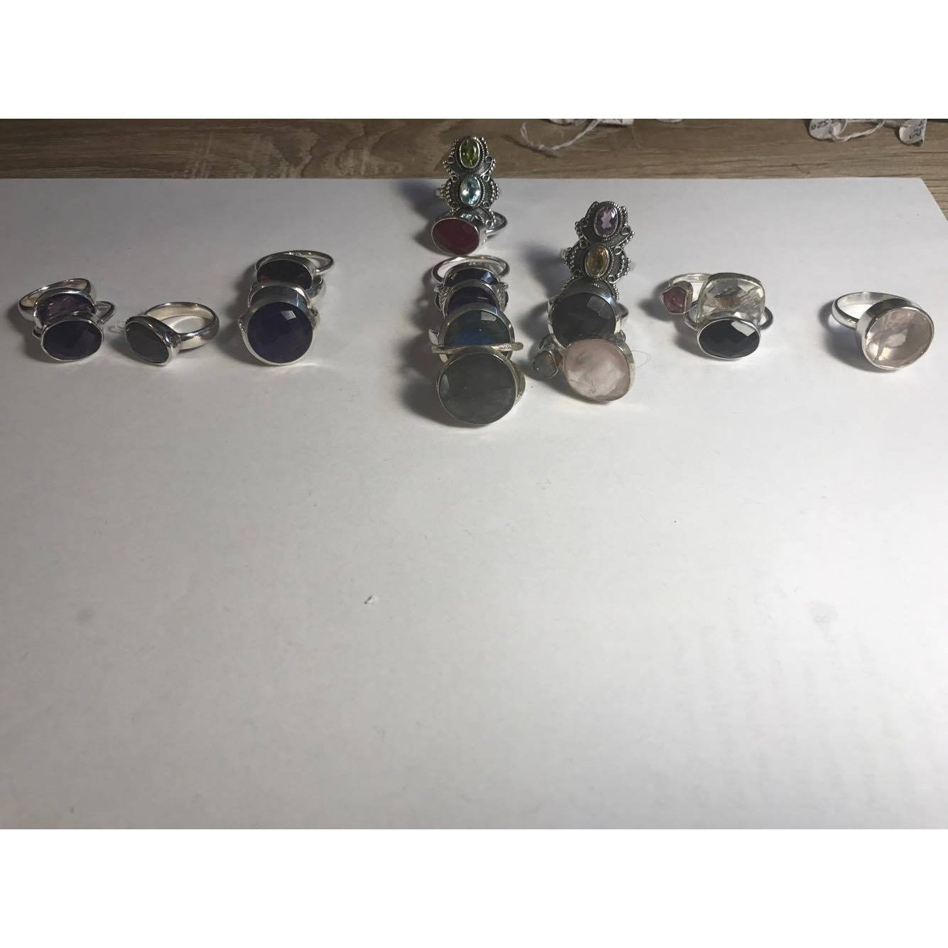 $129 Precious Stone Rings-JEWELLERY / RINGS-Not specified-50-Amethyst-The Outpost NZ