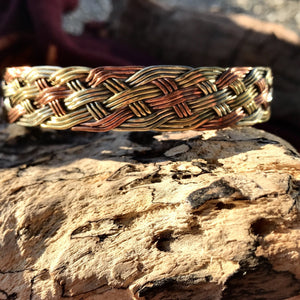 3 Metal Wire Knot Woven Bangle-JEWELLERY / BANGLE-Craft for Culture Traders (NEP)-The Outpost NZ