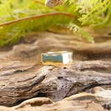 Hugo Square Brass Rings - The Outpost NZ