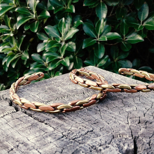 Adjustable Three Metal Bangle-JEWELLERY / BANGLE-Kathmandu Art And Handicraft (NEP)-Chain-The Outpost NZ
