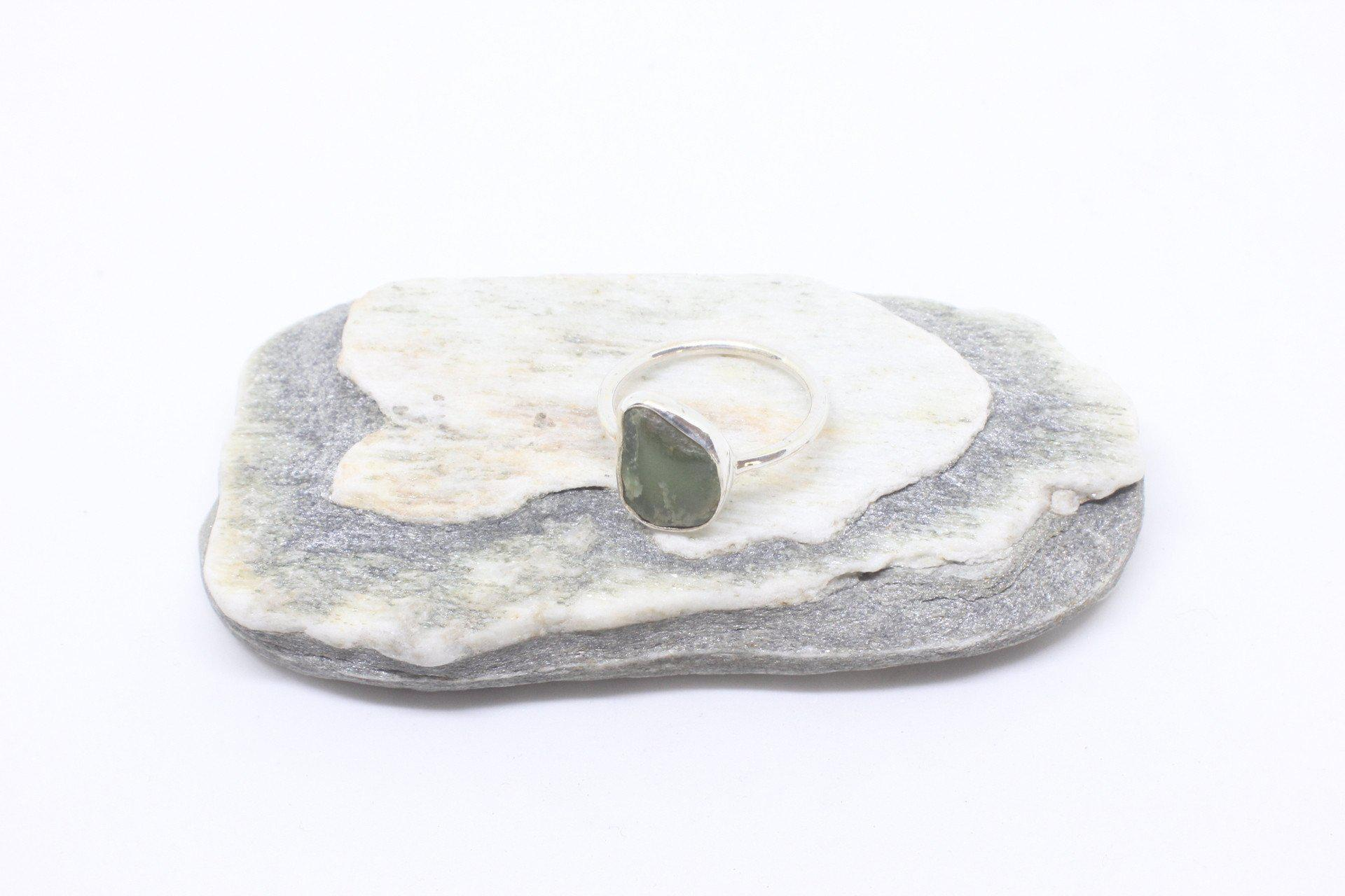 Amiria Silver Greenstone Ring-Jewellery-Not specified-The Outpost NZ