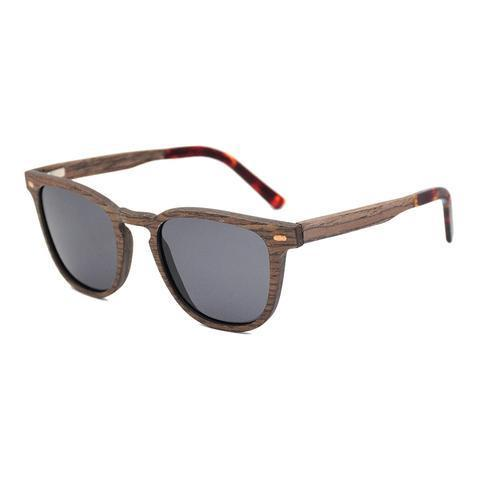 Amodeo Sunnies (P)-ACCESSORIES / SUNGLASSES-Lonsy Eyewear International Co.Ltd (CHI)-Walnut, Grey Lense-The Outpost NZ
