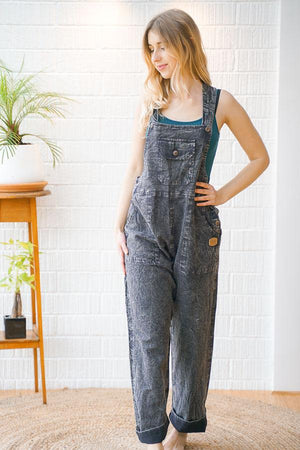 Cruiser Regular Fit Cotton Dungarees - The Outpost NZ
