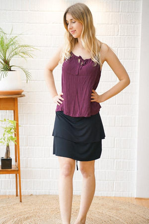 Ruffle Spaghetti Top - The Outpost NZ