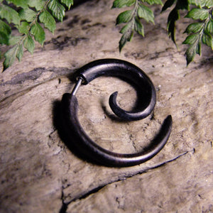 Areng Wood Fake Spiral Stretcher-JEWELLERY / PLUGS & STRETCHERS-Acha Co LTD (THA)-4mm-The Outpost NZ