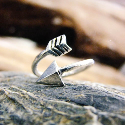Arrow Wrap Adjustable Ring-JEWELLERY / RINGS-Gopal Brass Man (IND)-Brass-The Outpost NZ