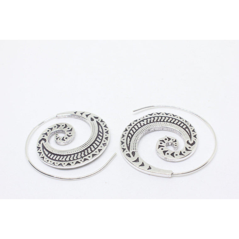 Atlantis Silver Plated Earring