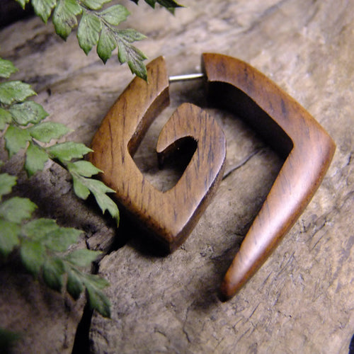 Atlantis Spiral Stretcher-JEWELLERY / PLUGS & STRETCHERS-Organic Jewelry Wholesale (THA)-Brown-The Outpost NZ