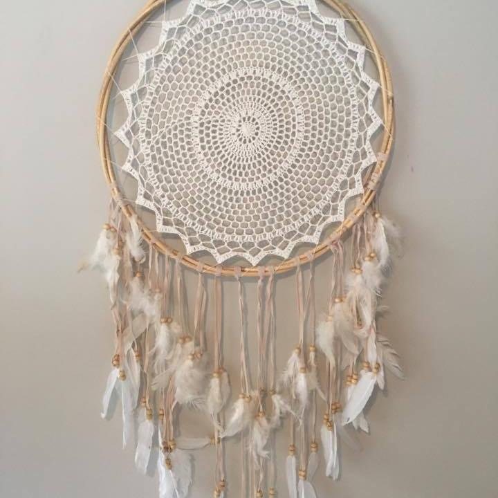 Bamboo Crochet Dreamcatchers-HOMEWARES-Not specified-The Outpost NZ