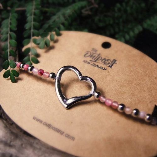 Beaded Symbol Bracelet-JEWELLERY / BRACELET-Choo Choo (THA)-Heart-The Outpost NZ