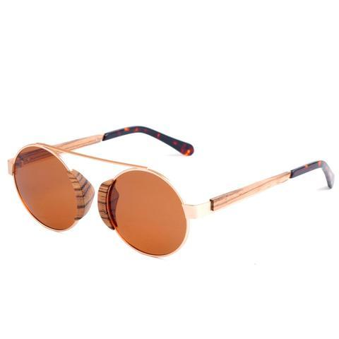 Bexley Sunnies (P)-ACCESSORIES / SUNGLASSES-Lonsy Eyewear International Co.Ltd (CHI)-Zebra, Brown Lense-The Outpost NZ