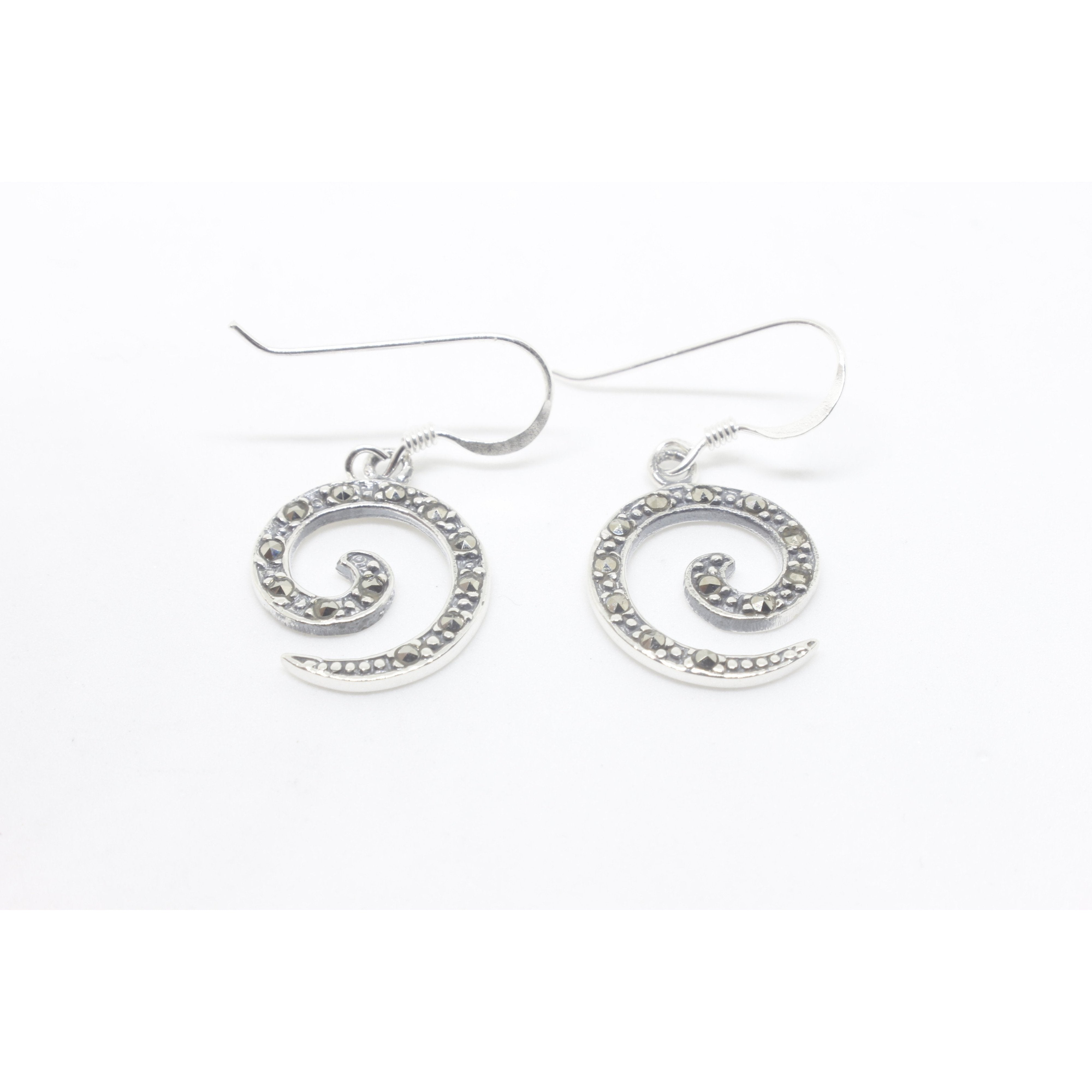 Billow Silver Earrings-JEWELLERY / EARRINGS-Mimi Silver (THA)-The Outpost NZ