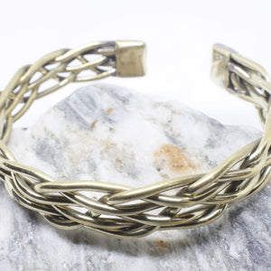 Brass Wire Knot Bangle-SALE/BANGLE-Craft for Culture Traders (NEP)-The Outpost NZ