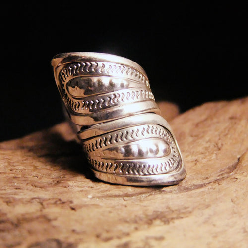 Bump Wrap Silver Ring-JEWELLERY / RINGS-Jewelery Center (THA)-50-The Outpost NZ