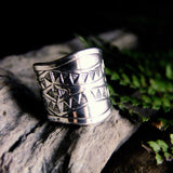 Bunting Wide Silver Ring-JEWELLERY / RINGS-Jewelery Center (THA)-52-The Outpost NZ