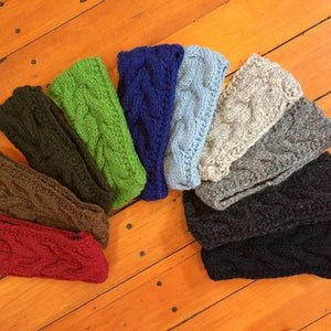 Cable knit Headbands-ACCESSORIES / HAIR-Mystery (NEP)-Black-The Outpost NZ