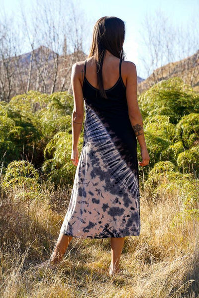 Cage Back Midi Dress-CLOTHING / DRESS-Jordano Shop (THA)-Beige-The Outpost NZ