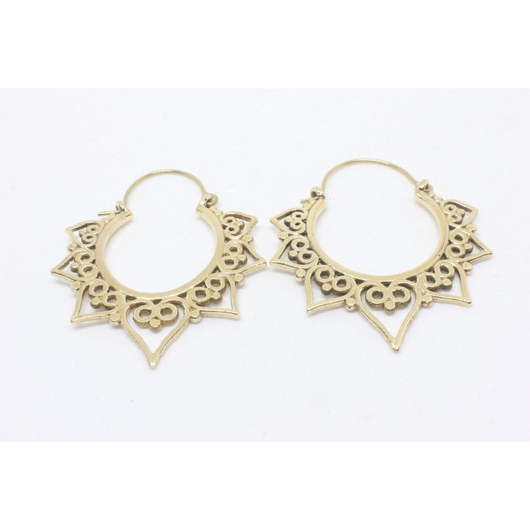 Calista Brass Earrings