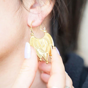 Calla Brass Earrings - The Outpost NZ
