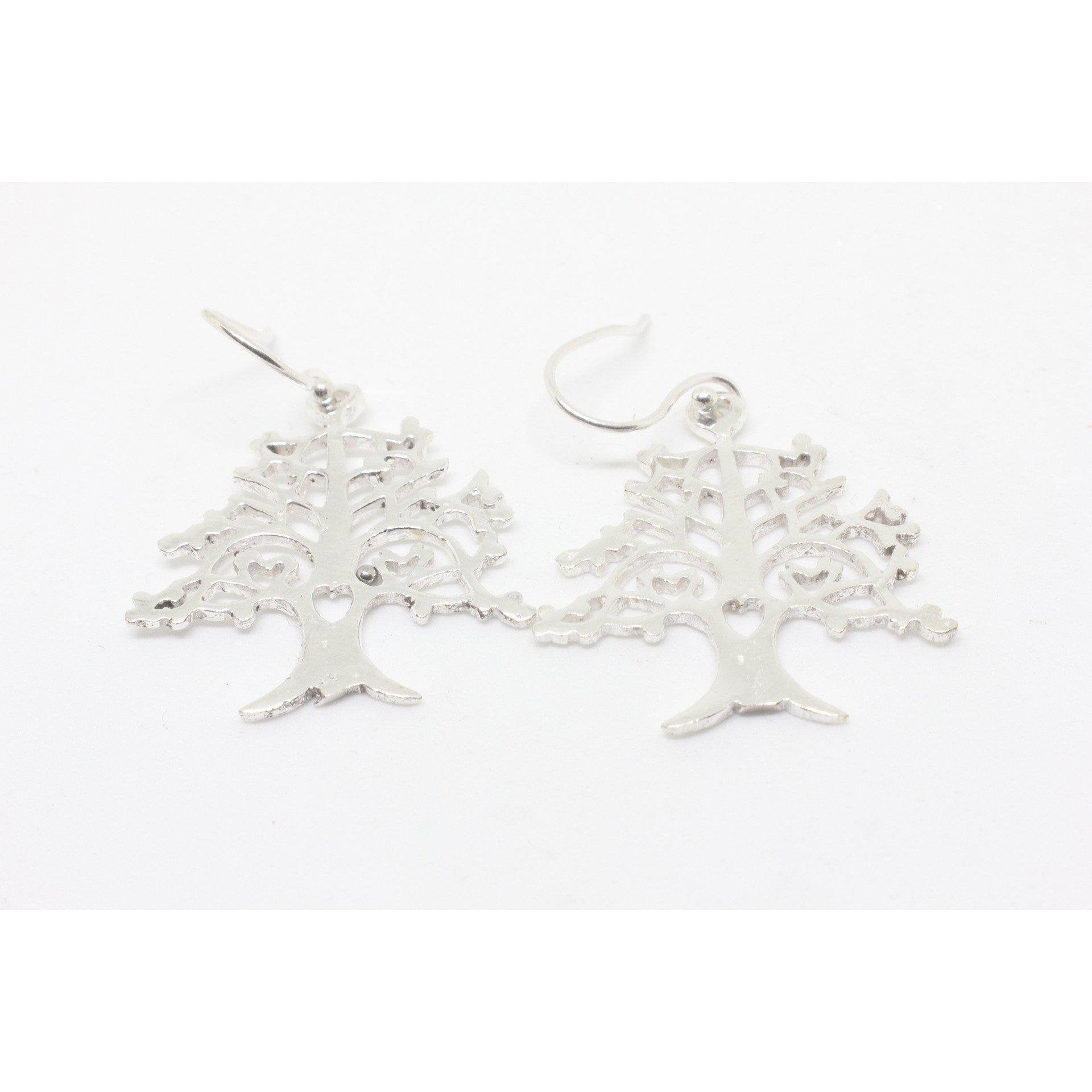 Candace Silver Plated Earrings-JEWELLERY / EARRINGS-Gopal Brass Man (IND)-The Outpost NZ
