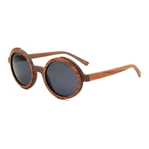 Carew Sunnies (P)-ACCESSORIES / SUNGLASSES-Lonsy Eyewear International Co.Ltd (CHI)-Brown Oak, Grey Lense-The Outpost NZ