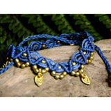 Charm Macrame Anklet-JEWELLERY / ANKLET-Ganesh Macrame (IND)-Blue-The Outpost NZ