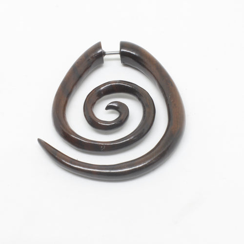 Circle Narra Wood Stretchers-JEWELLERY / PLUGS & STRETCHERS-Organic Jewelry Wholesale (THA)-The Outpost NZ