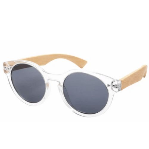 Clydevale Sunnies (P)-ACCESSORIES / SUNGLASSES-Lonsy Eyewear International Co.Ltd (CHI)-Clear, Grey Lense-The Outpost NZ
