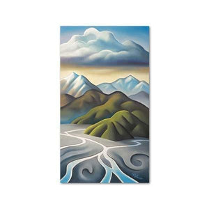 Confluence Canvas by Mike Glover,NZ ART,The Outpost NZ The Outpost NZ, New Zealand, outpost, Queenstown