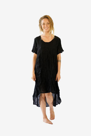 Cotton Kaari Dress-CLOTHING / DRESS-Faisamdin (THA)-Black-The Outpost NZ