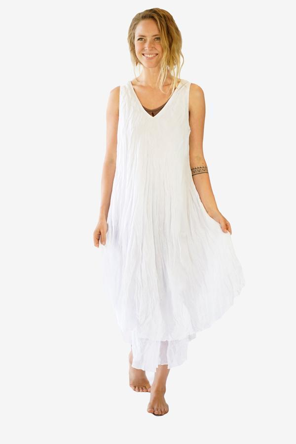 Cotton Monique Dress-CLOTHING / DRESS-Faisamdin (THA)-White-The Outpost NZ