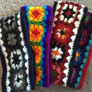 Crochet Daisy Headband-ACCESSORIES / HAIR-Mystery (NEP)-Naturals-The Outpost NZ
