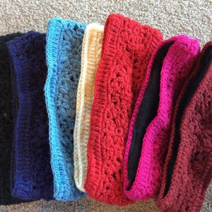 Crochet Wool Headbands-ACCESSORIES / HAIR-Mystery (NEP)-Pink-The Outpost NZ
