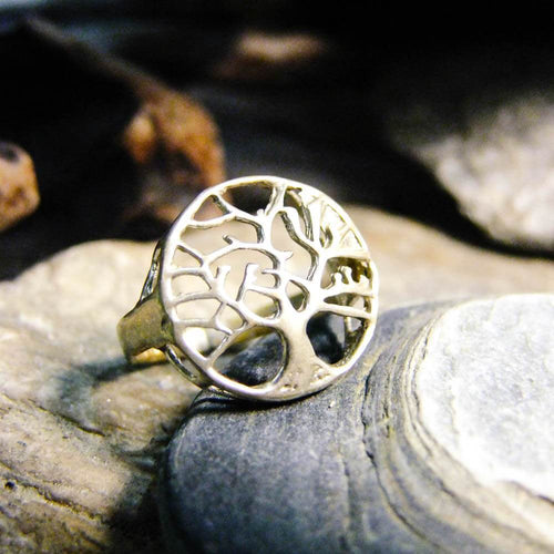 Cut Tree Silver Plated Ring-JEWELLERY / RINGS-Gopal Brass Man (IND)-The Outpost NZ