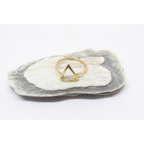 Cut Triangle Brass Ring-RINGS-Not specified-The Outpost NZ