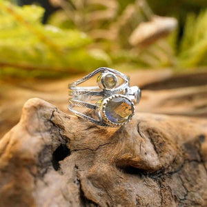 Arwen Cut Stone Sterling Silver Rings - The Outpost NZ