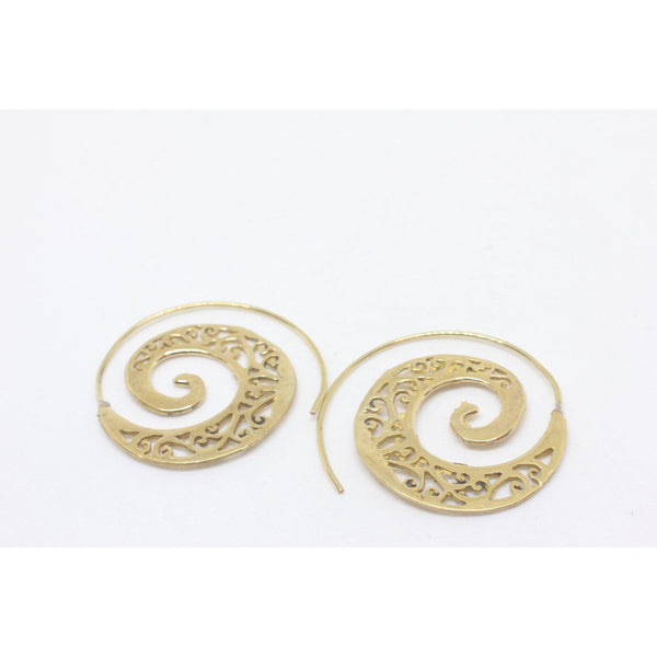 Dakini Brass Earrings-JEWELLERY / EARRINGS-Gopal Brass Man (IND)-The Outpost NZ