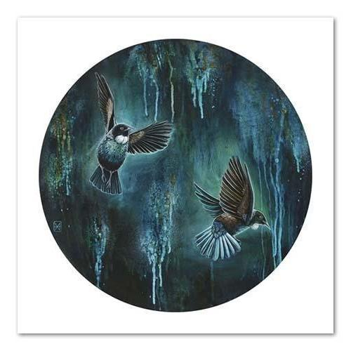Dance Of The Tui NZ Print 28 x 35 cm-NZ ART-Image Vault ltd (NZ)-The Outpost NZ
