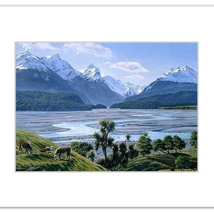 Dart River NZ Print 28 x 35 cm-NZ ART-Image Vault ltd (NZ)-The Outpost NZ