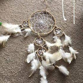 Donatella Dreamcatchers Cluster / Hemp-HOMEWARES-Dahal Handicraft (NEP)-Natural-The Outpost NZ
