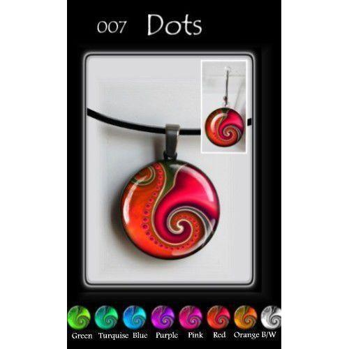 Dots Round-NZ JEWELLERY-TracyH (NZ)-Green-Earring-The Outpost NZ