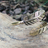 Double Broken Feather Bangle-JEWELLERY / BANGLE-Gopal Brass Man (IND)-Brass-The Outpost NZ