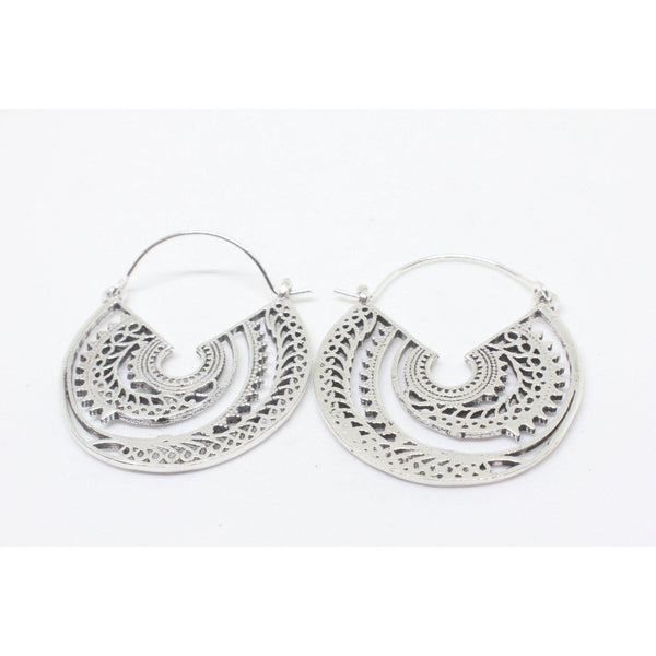 Dragon Silver Plated Earrings-JEWELLERY / EARRINGS-Gopal Brass Man (IND)-The Outpost NZ