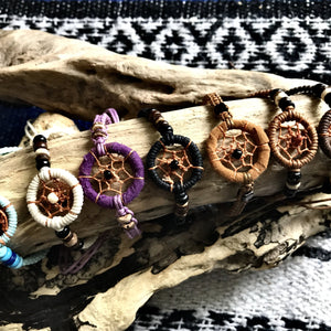 Dreamcatcher Bracelet-JEWELLERY / BRACELET-Wattanaporn (THA)-Brown-The Outpost NZ