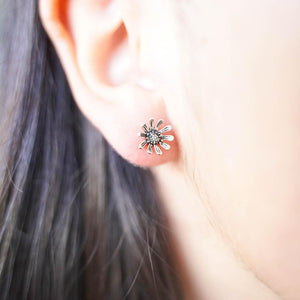 Echinacea Silver Stud Earrings-JEWELLERY / EARRINGS-Mimi Silver (THA)-The Outpost NZ
