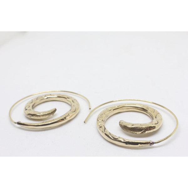 Eileen Brass Earrings-JEWELLERY / EARRINGS-Gopal Brass Man (IND)-The Outpost NZ