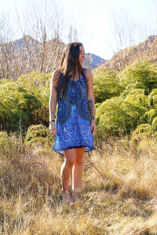 Emily Dress-CLOTHING / DRESS-Champagne2 (THA)-blue-paisley-The Outpost NZ
