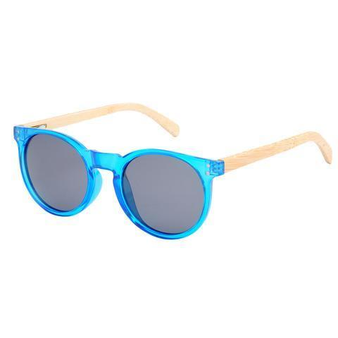 Erina Sunnies (P)-ACCESSORIES / SUNGLASSES-Lonsy Eyewear International Co.Ltd (CHI)-Blue, Grey Lense-The Outpost NZ