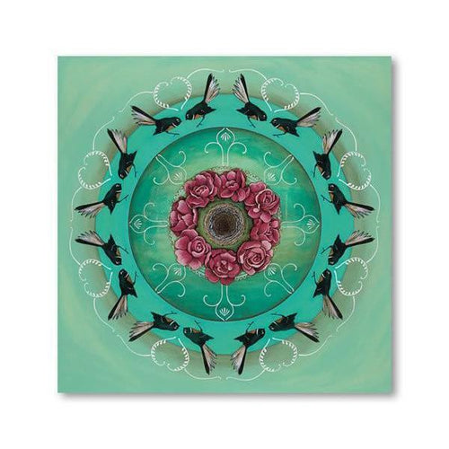 Fantail Kaleidoscope Canvas By Kathryn Furniss-NZ ART-Image Vault ltd (NZ)-The Outpost NZ