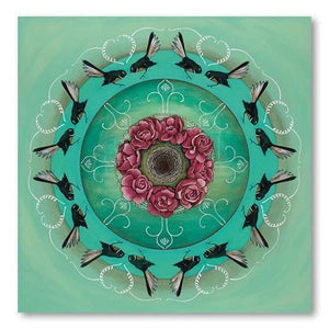 Fantail Kaleidoscope NZ Print 28 x 35 cm-NZ ART-Image Vault ltd (NZ)-The Outpost NZ